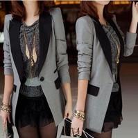 2014 spring and summer female blazer outerwear spring and autumn slim medium-long blazer plus size clothing