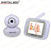 "New Digital Boy 3.5"" Video Baby Monitor Wireless Security Camera 2Way Talk Nigh Vision IR LED Temperature Monitoring 5 Lullabies"
