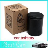 Drop shipping Black Cigarette Holder LED Ashtray Auto portable car cigarette ashtray wholesale gift