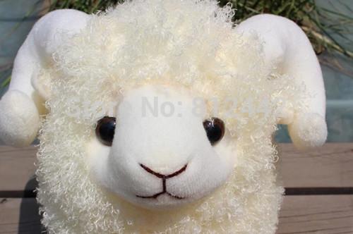 45cm Big Cute White Sheep Plush Toy Soft Stuffed Animal Doll For Girl Boy Christmas Gift Birthday Party Favor Brinquedo Menina(China (Mainland))