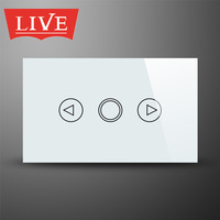 LivePower NEW US Standard Fashion Design Crystal Glass Touch Panel Light Switches Dimmer, 110-240VAC/50Hz~60Hz, US Standard