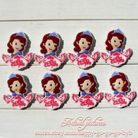 """16pcs/lot  """"Sofia the first Princess"""" PVC Shoe Charms in shoe decoration For Bracelets,Shoe Accessories,Kids Party Favors"""