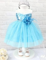 Hot Sale!Children's dress,New Style Frozen princess tank dress, China Post Air Mail Free Shipping