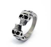 Free Shipping Ring Skull For Men Fashion Brand Biker Rings Men's Punk Style Stainless Steel Man Jewelry