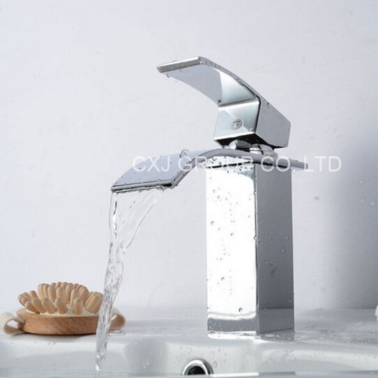 Water Faucet Bathroom : -Solid-Brass-Faucet-For-Bathroom-Water-Tap-Bathroom-Waterfall-Faucet ...