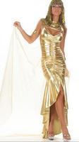 2 pieces Queen's Golden Egyptian queen costumes