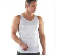 2XL Slim'n lift TV shopping sales men's garment corsets minus beer belly thin body Slimming body fitness men shaper vest