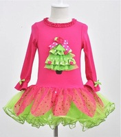 Merry Christmas Holidays Baby Girls Clothing New Fashion girl dress kids Christmas Dresses for 2-6 years Girls Boutique clothes