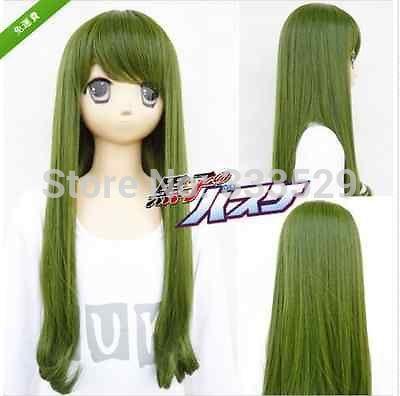 Wholesale free P&P>>>The Basketball Which Kuroko Plays Midorima Shintaro Female cosplay wig(China (Mainland))