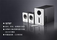 Solve sundsbo s737 2.1 multimedia desktop speaker subwoofer mini notebook audio