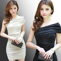 Hot KTV bar nightclub miniskirt dress Slim thin ladies temperament dress Korea