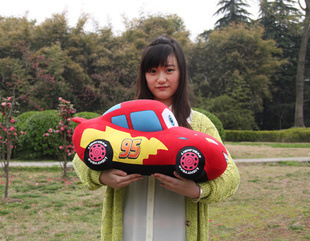 "Big Size 17"" Soft Classic Cartoon Cars Plush Toys Stuffed Plushies Cuddly Toy 45CM(China (Mainland))"