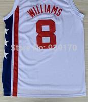 Free Shipping Top Quality Hot Sale Brooklyn # 8 Deron Williams Fashion Basketball Jerseys Embroidery Logo Size S-2XL