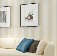 Fashion non-woven wall paper living room background wall vertical stripe plain wallpaper modern brief 10 M papel de parede roll