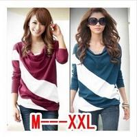 2014 new fashion summer women sexy striped  o-neck sleeveless tshirt