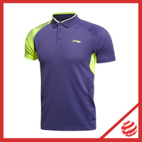2014 New Man Badminton Polo Shirt Quick Dry LI-NING Badminton Man Sport Polo AAYJ287