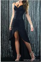 Sexy dance skirt Fine strapless cocktail dress dress