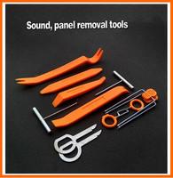 12pcs Car Door Clip Panel Trim Dash Audio Radio Removal Pry Tool Installation Set Kit Plastic,Car dvd player Stereo Refit Tool