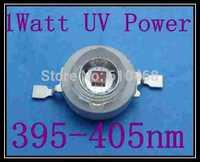 1W UV POWER LED Free shipping 1W Epileds 45mil 395-4055nmUV power LED 10pcs/lot