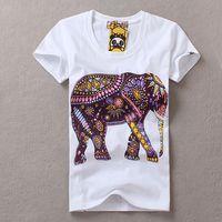 2014 New 13 patterns, cartoon, women T shirt women, short sleeve 100% cotton slim pullovers 3D elephant printed cartoon tops