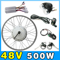 48V 500W hub motor electric bike kit conversion kits ebike kits with Front wheel or rear wheel