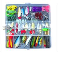 Hot Sell! 109pcs/set plastic fishing lures Kit set with big 2-layer retail box assorted fishing bait kit fishing tackle freeship
