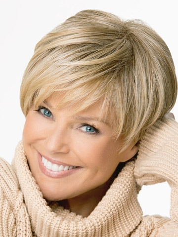 Synthetic hair wigs for women. Beautiful boy cut style short straight