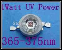 1W UV POWER LED Free shipping 1W Epileds 45mil 365-375nmUV power LED 10pcs/lot