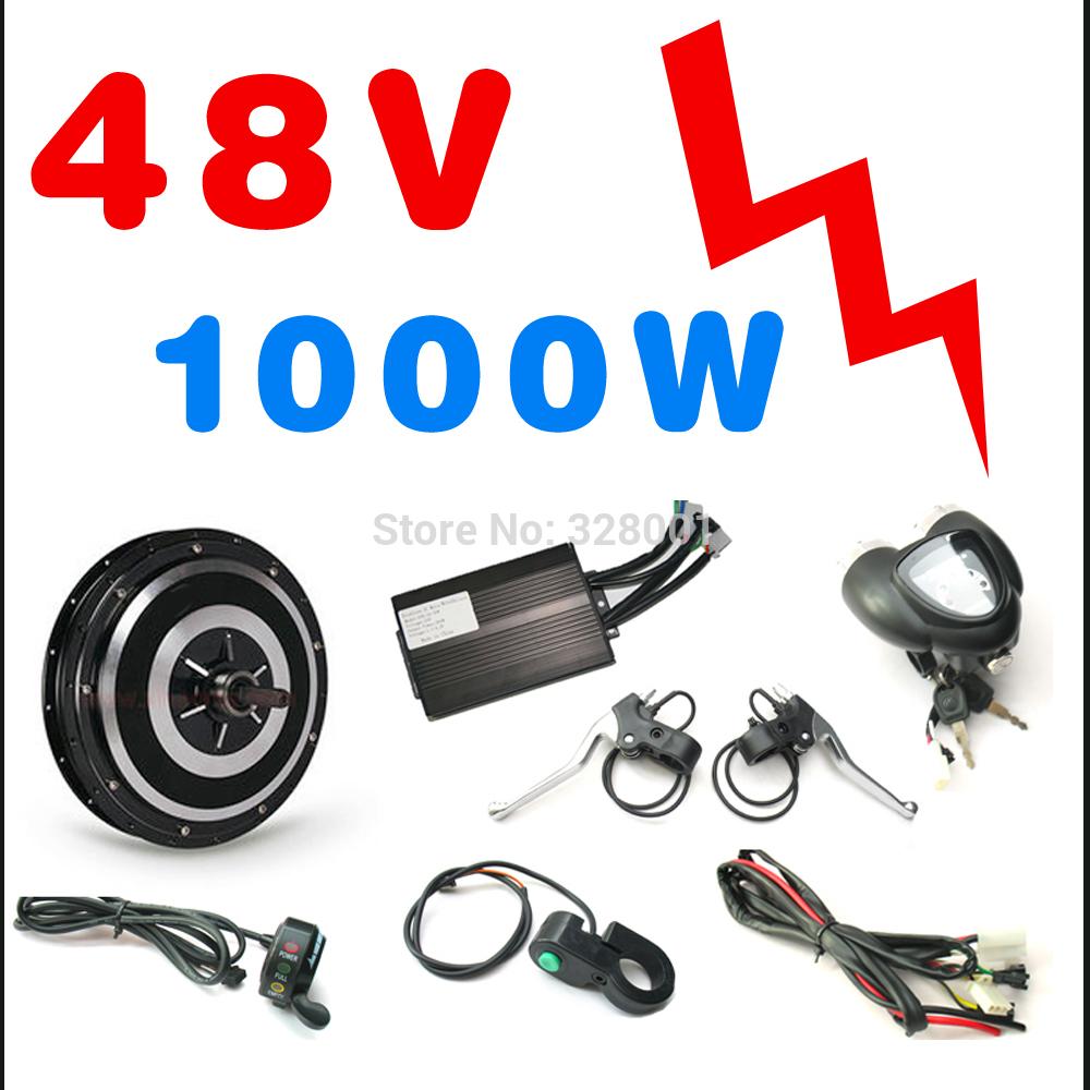 48V 1000W hub motor electric bike kit conversion kits ebike kits with Front wheel or rear wheel(China (Mainland))