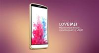 Original Ultra-thin 0.7mm Love mei Hippocampal Buckle Metal Bumper Aluminum case For LG G3 Free shipping