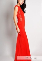 Europe and the United States foreign trade dress split dress Behind the lace dress night gown