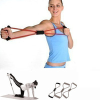 8-shaped chest developer latex chest expander tension band Yoga Pilates Tubes Fitness bands elastic exerciser Resistance Bands