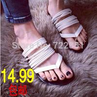 Summer flip-flop flat heel slippers female slippers belt flat bottom flip flops sandals 2 color free shipping