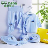 Hot sale wholesale newborn baby underwear 5pcs suits autumn gift bebe clothing set cotton 100% cotton