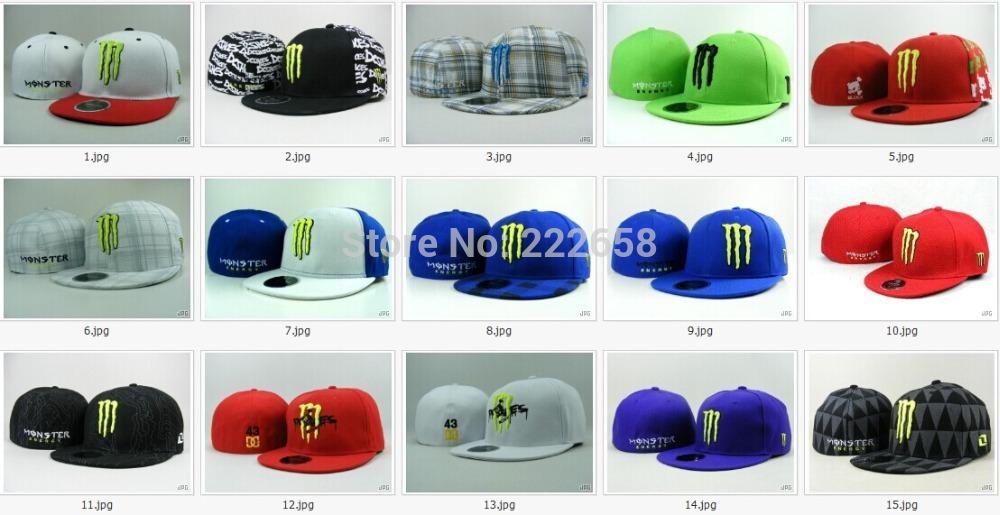 Hot-selling free shipping Monster caps fitted monster Rockstar baseball cap hip-hop cap(China (Mainland))