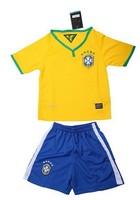The new Brazilian national team 2014-2015 Kids Soccer Jersey Short Sleeve Soccer Jersey Free Shipping