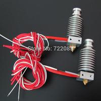 Wholesale 2pcs/lot  J-head Hotend for 1.75mm/3.0mm E3D Direct Filament Wade Extruder 0.2mm/0.3mm/0.4mm 3D Printer Accessories