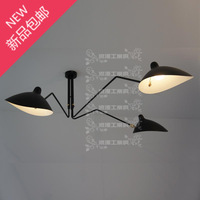 Industrial crazy loft retro romantic Paris craft art claws three light special chandelier