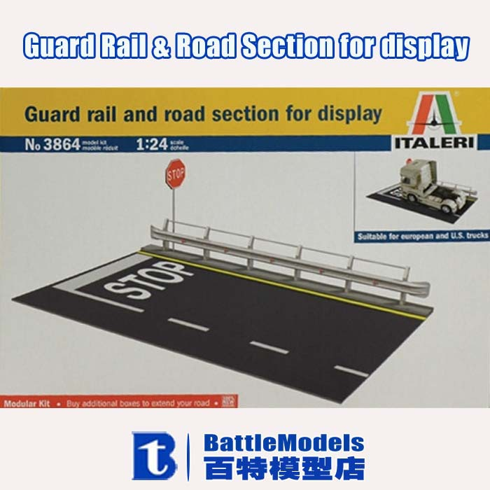 ITALERI MODEL 1/24 SCALE military models #3864 Guard Rail & Road Section for display plastic model kit(China (Mainland))