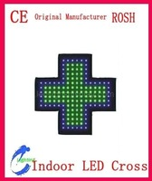 Indoor Green and Blue Double Color 30X30CM LED Corss Sign LED Pharmacy