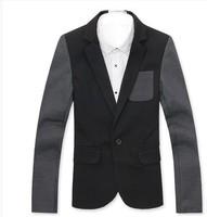 autumn 2014 Men's Suits Hot Selling Special a buckle multicolor classic casual blazer men men blazer M L XL XXL black grey