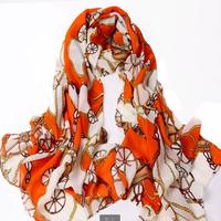 Chinese Carriage scarf women winter fashion style silk scarf polka velvet scarf chiffon Scarf  Free Shipping