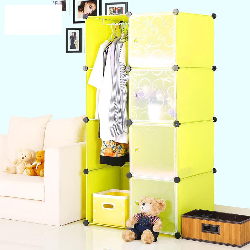 diy modular cube plastic organizer furniture easily receive one family clothes closet for clothes  bookshelf  closet storage(China (Mainland))