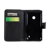 Stand Wallet Leather Case With Card Holder For Nokia Lumia 520 1PCS Free Shipping
