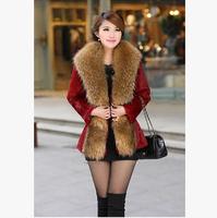 2014 new winter fashion lady winter fur coat and long sections Slim waist imitation mink warm free shipping
