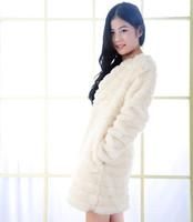 2014 new imitation rabbit fur coat ladies wool coat jacket length Nick shipping female models