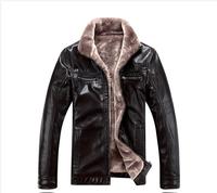 2014 new add fertilizer increased short man fur sheep leather jacket