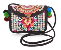 New National Trend Embroidery Bags Double Face Embroidered Messenger Shoulder Bag Ethnic Chinese Casual Small Cltuch Handbag