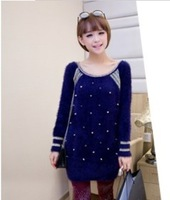 2014 Exclusive Sales Of High-Quality New Spring. In The Long Section Of Mohair Suit Rivet Head Women'S Sweater Knit Z0925