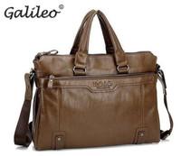 men's handbag fashion three colors casual  PU leather shoulder Messenger Laptop men's travelling handbags